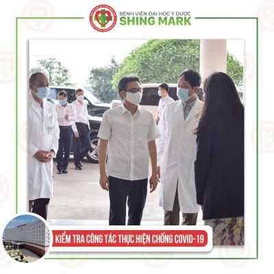 Chào đón Phó Thủ Tướng Chính Phủ Vũ Đức Đam về thăm và làm việc tại Bệnh Viện ĐHYD Shing Mark