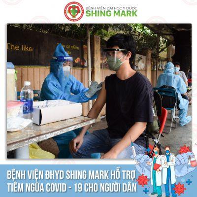 BỆNH VIỆN ĐHYD SHING MARK HỖ TRỢ TIÊM VACCINE COVID-19 CHO NGƯỜI DÂN TẠI PHƯỜNG LONG BÌNH TÂN