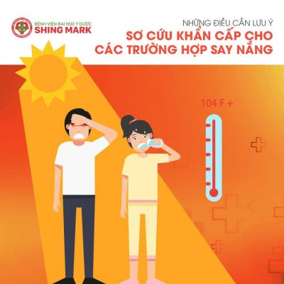 Sơ cứu khẩn cấp cho các trường hợp say nắng