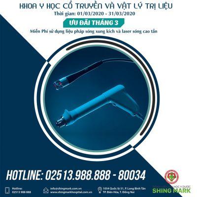 Miễn Phí sử dụng dịch vụ Liệu Pháp Sóng Xung Kích & Laser Sóng Cao Tần